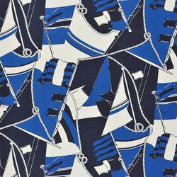 Signature Sur la Cote Fabrics | Schooner Novelty - Admiral | Curtain fabrics | Designers Guild