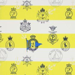 Signature Sur la Cote Fabrics | Seaworthy Crest - Soleil | Curtain fabrics | Designers Guild