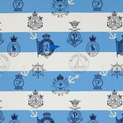Signature Sur la Cote Fabrics | Seaworthy Crest - Harbour | Vorhangstoffe | Designers Guild