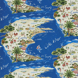 Signature Sur la Cote Fabrics | Beau Soleil - Riviera | Curtain fabrics | Designers Guild