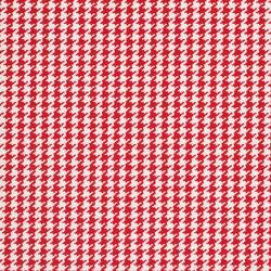 Signature Sur la Cote Fabrics | Caraval Houndstooth - Red | Vorhangstoffe | Designers Guild