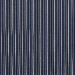 Signature Tickings Fabrics | Upper Street Stripe - Indigo | Curtain fabrics | Designers Guild