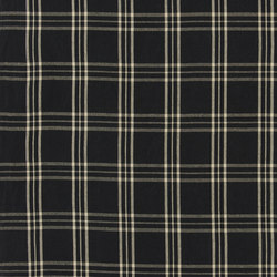 Signature Vintage Linens Fabrics | Cross Wind Plaid - Black/Linen | Tessuti tende | Designers Guild