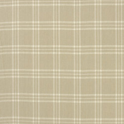 Signature Vintage Linens Fabrics | Cross Wind Plaid - Cream/Linen | Curtain fabrics | Designers Guild