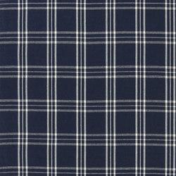 Signature Vintage Linens Fabrics | Cross Wind Plaid - Denim/Cream | Vorhangstoffe | Designers Guild