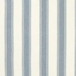 Signature Vintage Linens Fabrics | Danvers Stripe - Chambray/Cream | Curtain fabrics | Designers Guild