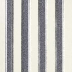 Signature Vintage Linens Fabrics | Danvers Stripe - Denim/Cream | Tessuti tende | Designers Guild