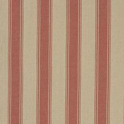 Signature Vintage Linens Fabrics | Danvers Stripe - Poppy/Linen | Tessuti tende | Designers Guild