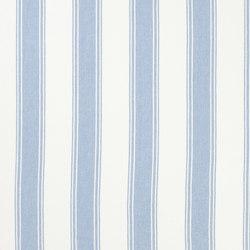 Signature Vintage Linens Fabrics | Danvers Stripe - Sky/White | Tissus pour rideaux | Designers Guild