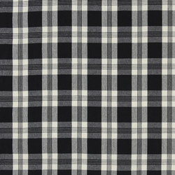Signature Vintage Linens Fabrics | Mill Pond Check - Black/Cream | Curtain fabrics | Designers Guild