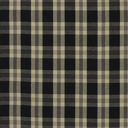 Signature Vintage Linens Fabrics | Mill Pond Check - Black/Linen | Tejidos para cortinas | Designers Guild