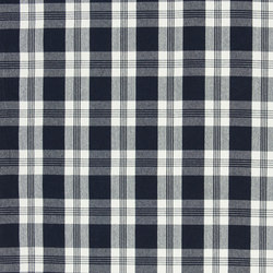 Signature Vintage Linens Fabrics | Mill Pond Check - Navy/White | Curtain fabrics | Designers Guild