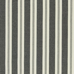 Signature Vintage Linens Fabrics | Mill Pond Stripe - Black/Cream | Tessuti tende | Designers Guild