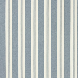 Signature Vintage Linens Fabrics | Mill Pond Stripe - Chambray/Cream | Vorhangstoffe | Designers Guild