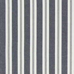 Signature Vintage Linens Fabrics | Mill Pond Stripe - Navy/White | Curtain fabrics | Designers Guild