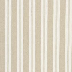 Signature Vintage Linens Fabrics | Mill Pond Stripe - Sand/White | Tissus pour rideaux | Designers Guild