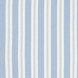Signature Vintage Linens Fabrics | Mill Pond Stripe - Sky/White | Tessuti tende | Designers Guild