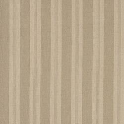 Signature Vintage Linens Fabrics | Mill Pond Stripe - Stone/Linen | Tissus pour rideaux | Designers Guild