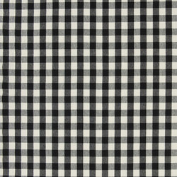 Signature Vintage Linens Fabrics | Old Forge Gingham - Black/Cream | Curtain fabrics | Designers Guild