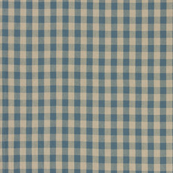 Signature Vintage Linens Fabrics | Old Forge Gingham - Chambray/Linen | Tejidos para cortinas | Designers Guild