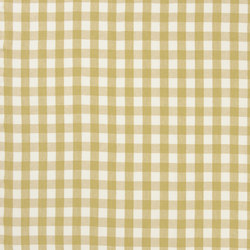 Signature Vintage Linens Fabrics | Old Forge Gingham - Golden/White | Curtain fabrics | Designers Guild