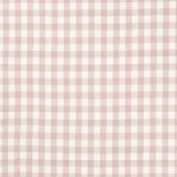 Signature Vintage Linens Fabrics | Old Forge Gingham - Petal/White | Curtain fabrics | Designers Guild