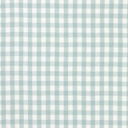 Signature Vintage Linens Fabrics | Old Forge Gingham - Pool/White | Curtain fabrics | Designers Guild