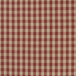 Signature Vintage Linens Fabrics | Old Forge Gingham - Poppy/Linen | Tejidos para cortinas | Designers Guild