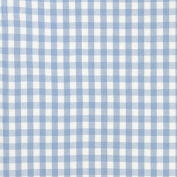 Signature Vintage Linens Fabrics | Old Forge Gingham - Sky/White | Curtain fabrics | Designers Guild