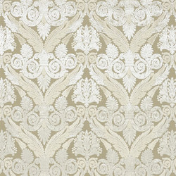 St. James's Fabrics | Stuart Damask - Ivory | Curtain fabrics | Designers Guild