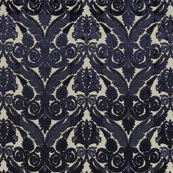 St. James's Fabrics | Stuart Damask - Sapphire | Tissus pour rideaux | Designers Guild