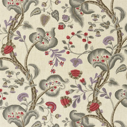 Marlena Fabrics | Marlena - Plum | Curtain fabrics | Designers Guild
