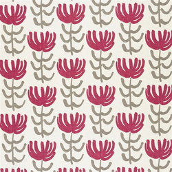 Marlena Fabrics | Pierrette - Beetroot | Curtain fabrics | Designers Guild