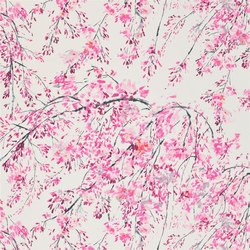 Shanghai Garden Fabrics | Plum Blossom - Peony | Curtain fabrics | Designers Guild