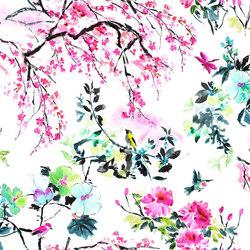 Shanghai Garden Fabrics | Chinoiserie Flower - Peony | Curtain fabrics | Designers Guild