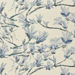 Shanghai Garden Fabrics | Shangri-La Lino - Graphite | Tejidos para cortinas | Designers Guild