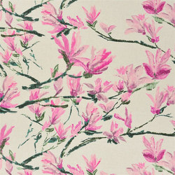 Shanghai Garden Fabrics | Shangri-La Lino - Peony | Curtain fabrics | Designers Guild