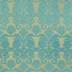 Trasimeno with Despina Fabrics | Ombrione - Turquoise | Tessuti tende | Designers Guild