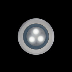 Tapioca Power LED / Ø 90mm - Anodized Aluminium Frame - Sandblasted Glass | Strahler | Ares