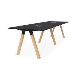 Frankie bench desk high wooden A-leg 90cm | Mesas altas | Martela