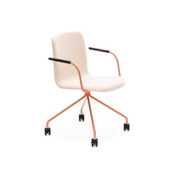 Sola conference chair with four leg base with castors | Sedie girevoli da lavoro | Martela