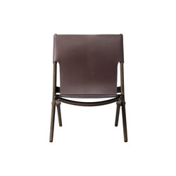Saxe, smoked oak # brown leather | Lounge chairs | by Lassen