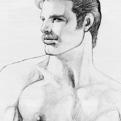 Tom of Finland untitled, 1980 | Rugs / Designer rugs | Henzel Studio