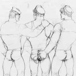 Tom of Finland untitled, 1973 | Tappeti / Tappeti d'autore | Henzel Studio