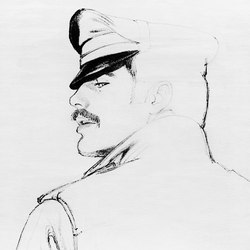 Tom of Finland untitled, 1977 | Tappeti / Tappeti d'autore | Henzel Studio