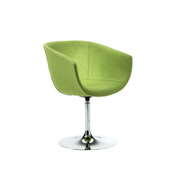 Derby | Swivel trumpet base, upholstered | Sedie visitatori | Segis