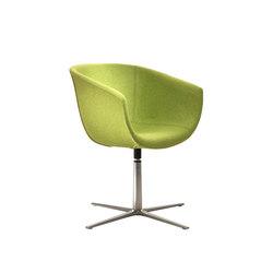 Derby | 4 star swivel base in die-cast alumnium, upholstered | Sedie visitatori | Segis