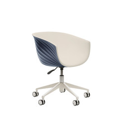 Derby | 5 star swivel base with castors | Chaises de travail | Segis