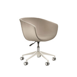 Derby | 5 star swivel base with castors, upholstered | Sedie girevoli da lavoro | Segis
