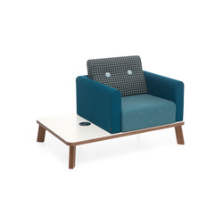 Couture easy chair | Lounge-work seating | Materia